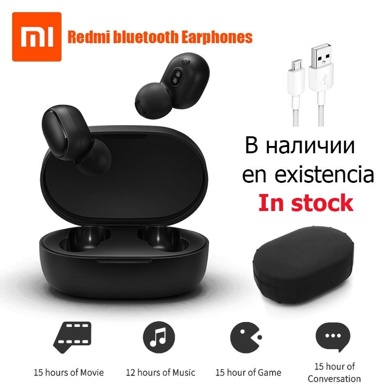 Xiaomi Redmi Airdots True Wireless bluetooth Earphones TWS 5.0 Original xiaomi Air Airdots pro headset DSP With Mic InStock