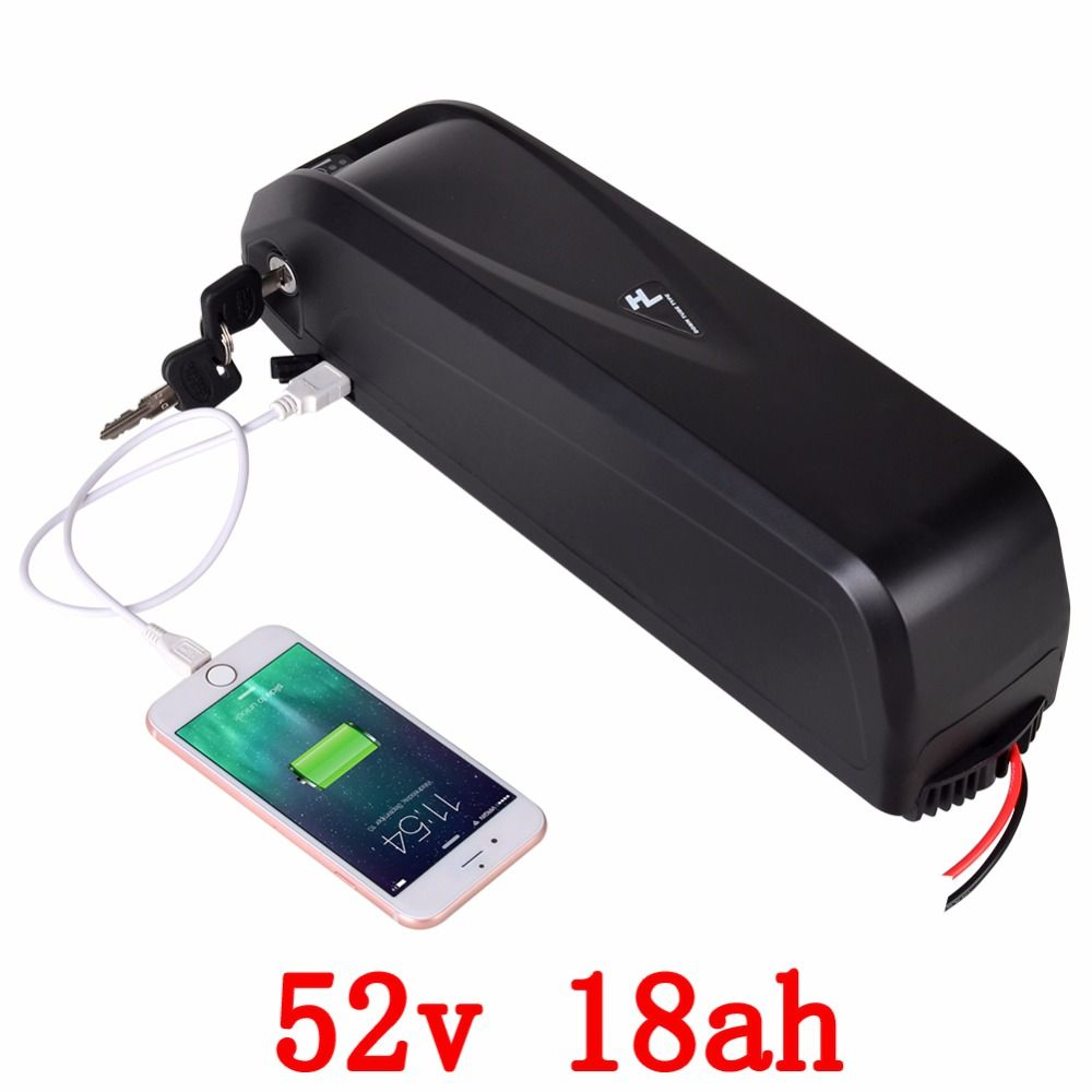 US EU no tax New Hailong E-Bike Battery 52V 18Ah for Samsung cell Lithium ion Battery with 30A BMS for 750W 1000W Bafang Motor