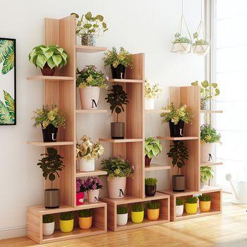 15LK609 Display Decorative Flower Stand Balcony Floor Flowerpot Rack Multi-layer Pot Shelves Multi-functional Potted Flower Rack