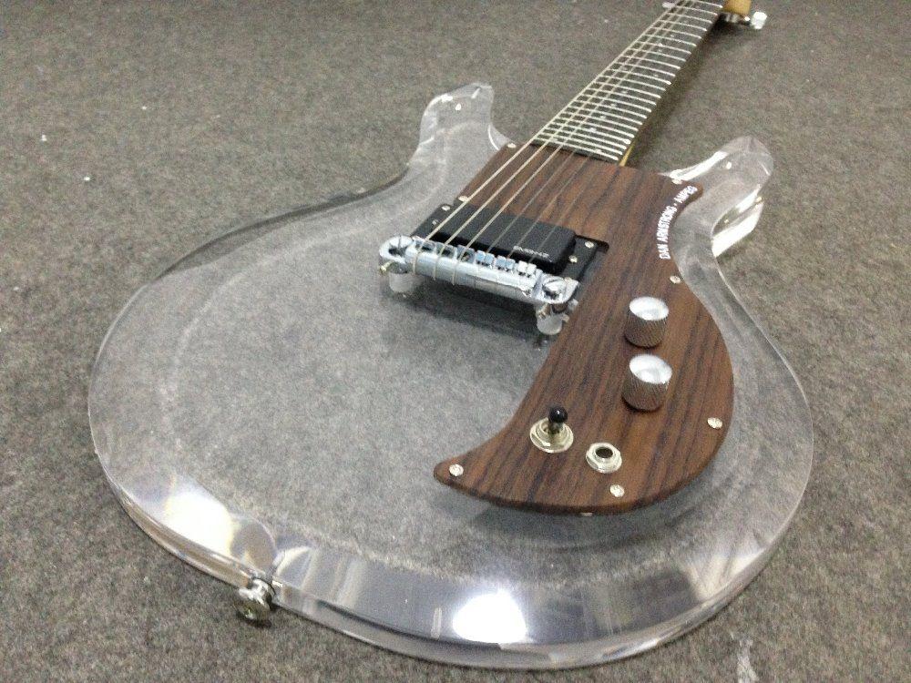 New style acrylic body electric guitarDan Armstrong.Ampeg guitar