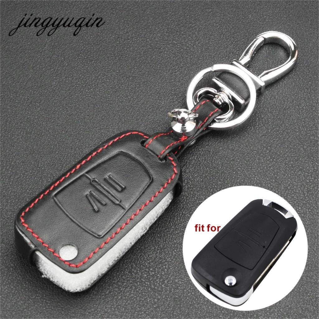 Jingyuqin Leder Abdeckung Für Vauxhall Opel Astra Vectra Zafira 2 Taste Flip Remote Key Fob Fall Auto styling