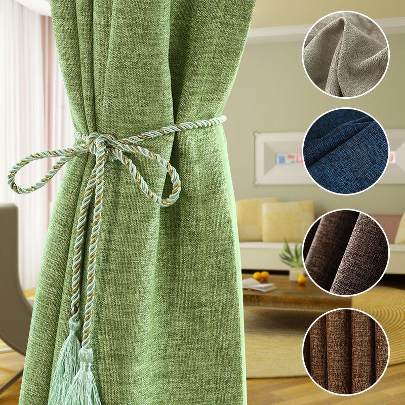 [Byetee] tissu rideau moderne en coton lin occultant rideaux tissus pour chambre Cortinas salon Cortina rideaux