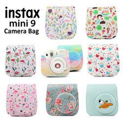 Carry opcional PU bolsa de cuero cubierta con correa de hombro para Fujifilm Instax Mini 9 Mini 8 Mini 8 + cámara de fotos instantánea