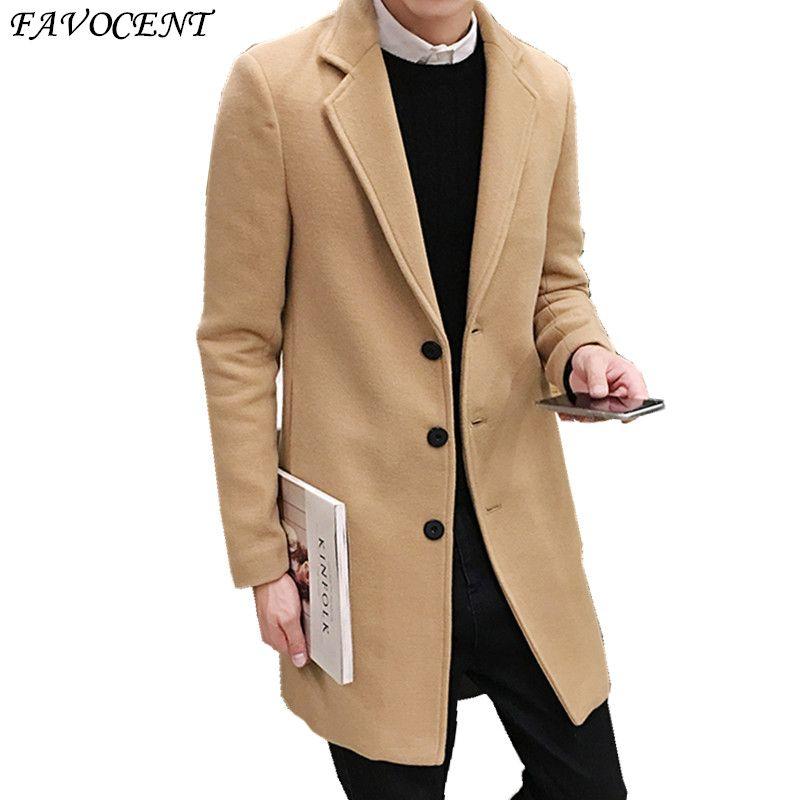 Sobretudo модные Стандартный Однобортный Кнопка Регулярный Специальное предложение Топ мода Peacoat 2018 Бесплатная доставка шерстяное пальто