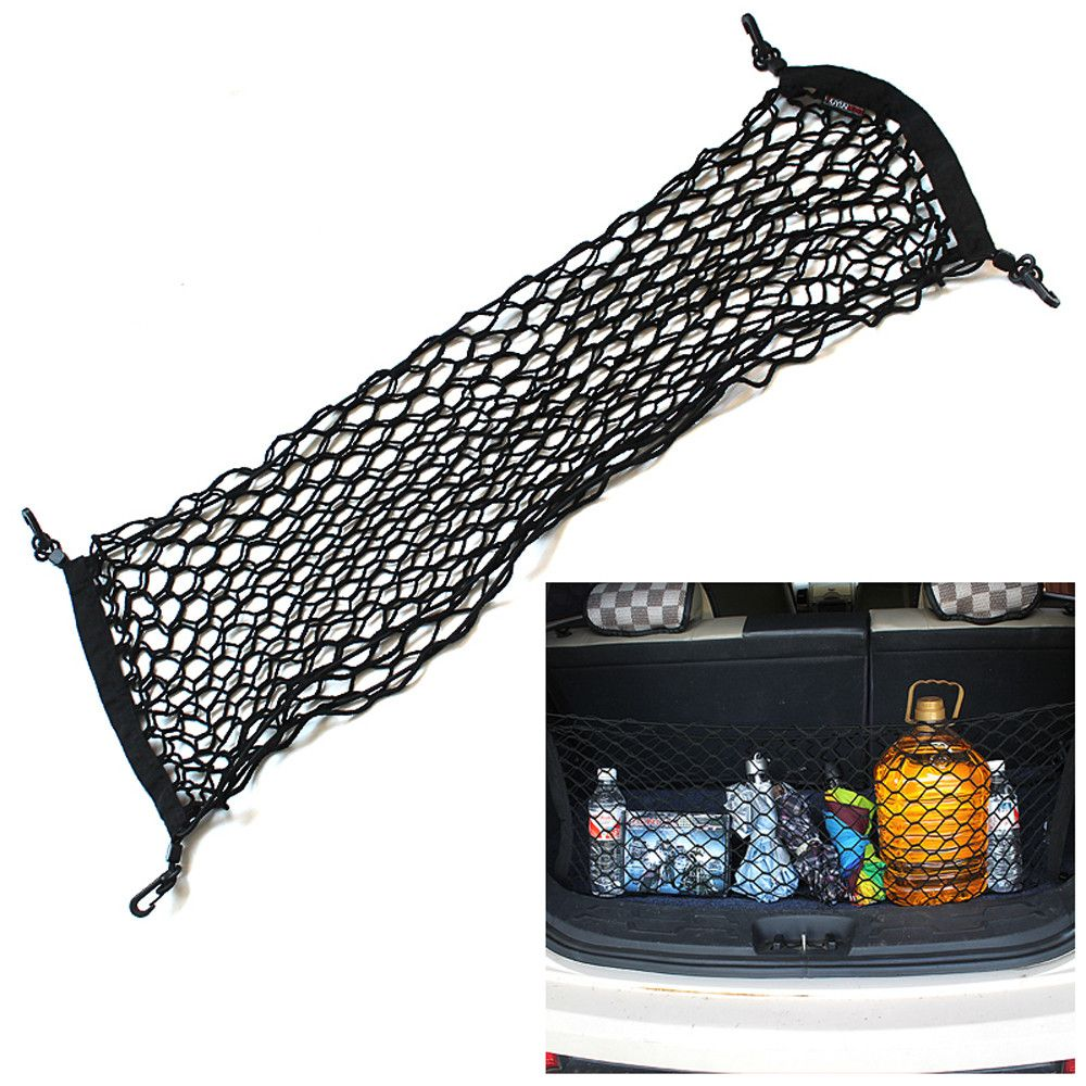 1PC Envelop Car Storage Bag Elastic Flexible Nylon Car Rear Cargo Trunk Storage Organizer Net with SUV Auto Accessories for BMW