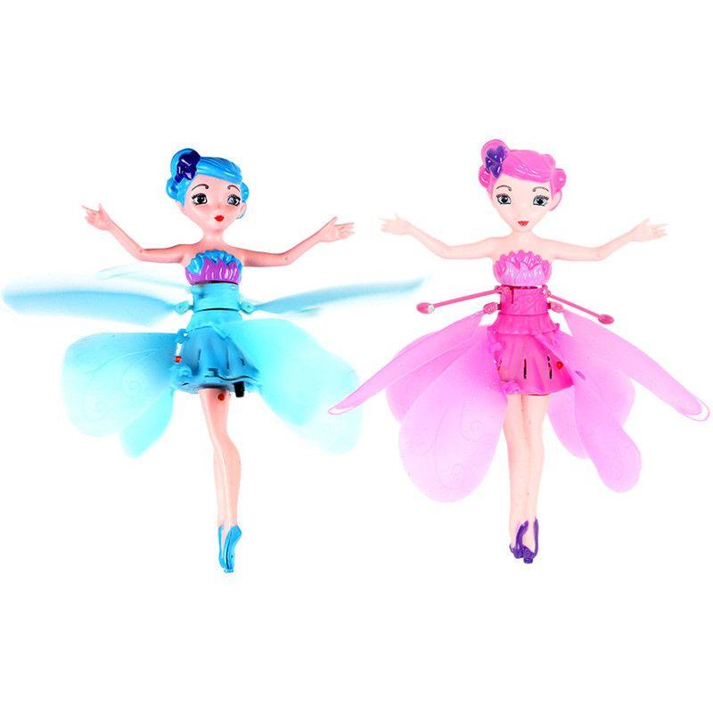 Новые летающая фея Куклы Эльза игрушки Инфракрасный Индукционная Управление Летающий Куклы для Обувь для девочек Дистанционное управлени...