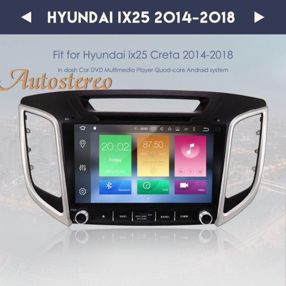 Octa core Android 8.0 9 inch Car DVD Player GPS Navigation For HYUNDAI IX25 2014-2018 CRETA Auto navi stereo headunit multimedia