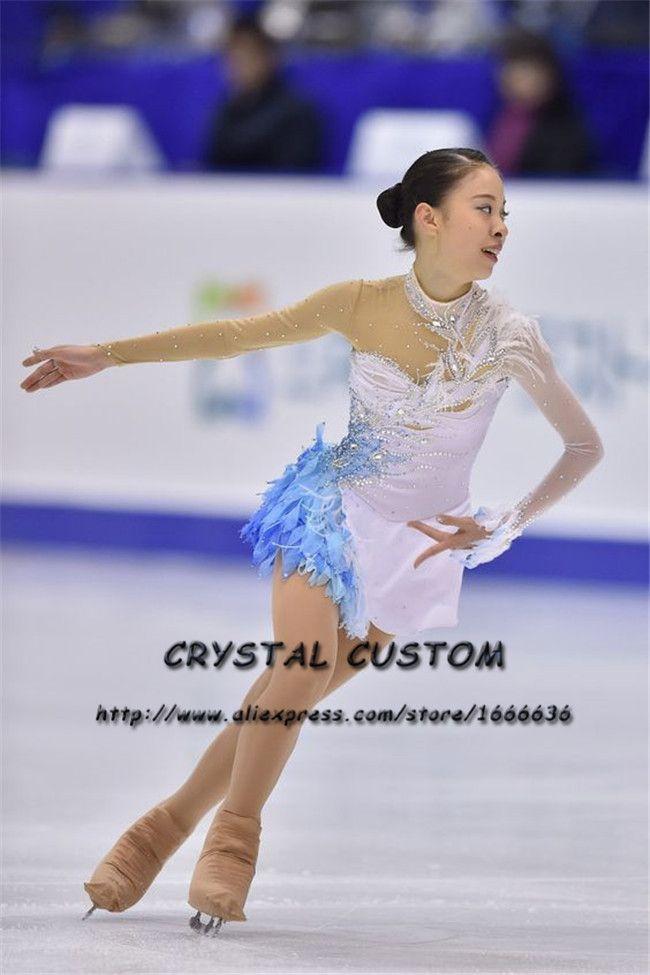 Custom Girls Figure Skating Dresses Graceful New Brand Ice Skating Dresses For Competition DR4374