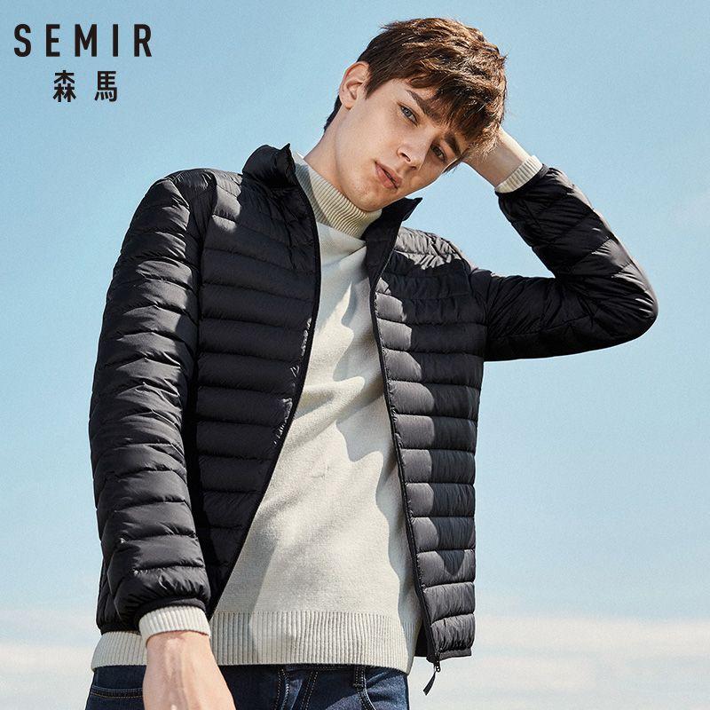 SEMIR 2019 doudoune hommes hiver portabilité chaud 90% duvet de canard blanc à capuche homme manteau jaqueta masculino chaqueta hombre