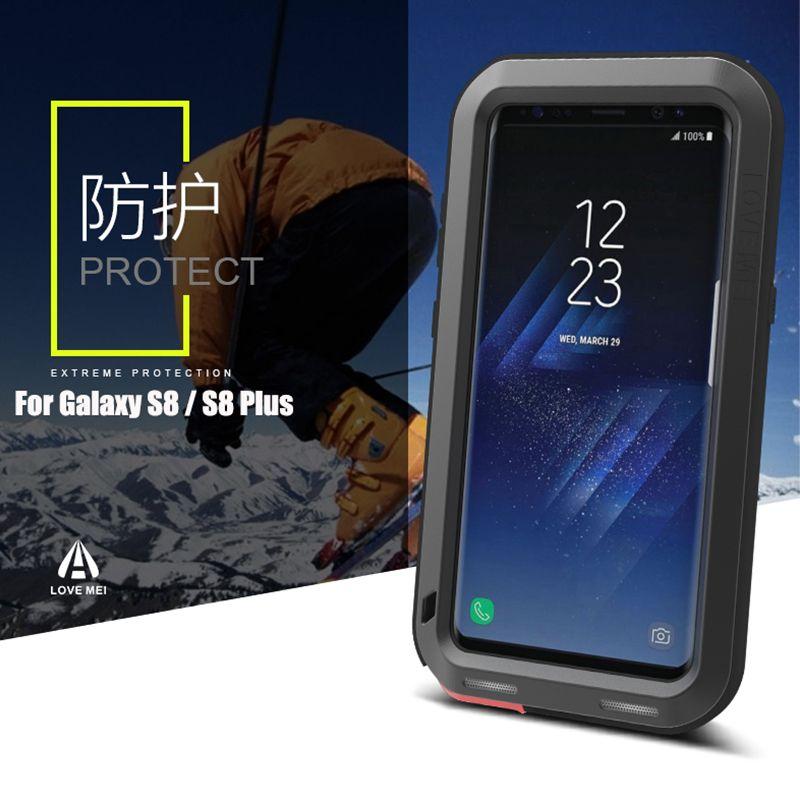 Love Mei Métal étui pour Samsung Galaxy S8 Plus Complet Housse De Téléphone Antichoc Pour Samsung S8 Étui Robuste Anti-Chute Coquille