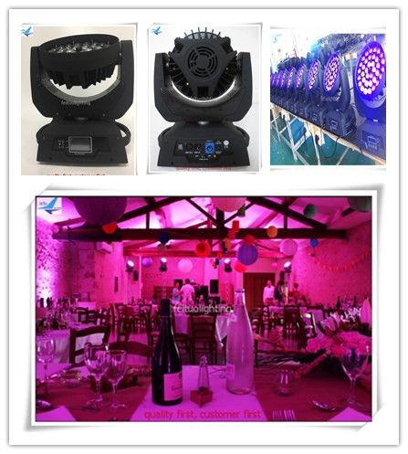 A-4X touch screen 36x18w zoom moving head rgbaw uv Zoom LED Moving-Head Wash/FLY CASE