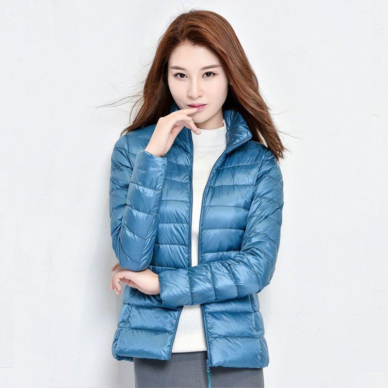 2018 New Women Winter Coat Fashion 90% White Duck <font><b>Down</b></font> Jacket Ultralight Portable Slim <font><b>Down</b></font> Coat Female Winter Jackets Parkas
