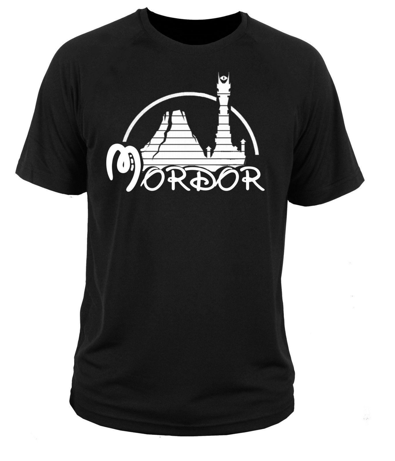 2017 Nueva Inconformista Mordor Señores De Los Anillos de Tolkien Hobbit 3D Populares de impresión de Los Hombres 100% Algodón Camiseta de Verano de Manga Corta Tees