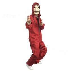 2018 Ensemble Complet La Casa De Papel Salvador Dali Cosplay Costume Salvador Dali l'argent hold-up Cosplay Costume + latex masque
