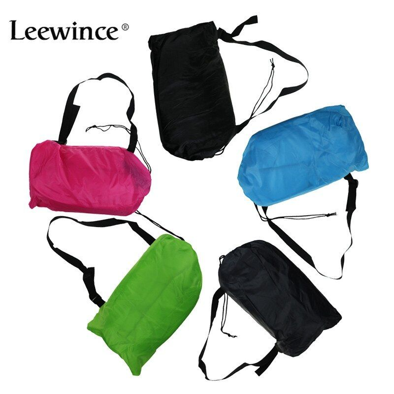 Leewince Lazy bag Fast <font><b>Inflatable</b></font> Sofa Outdoor Air Sofa Sleeping bag Couch Portable Furniture Living Room Sofas for Summer