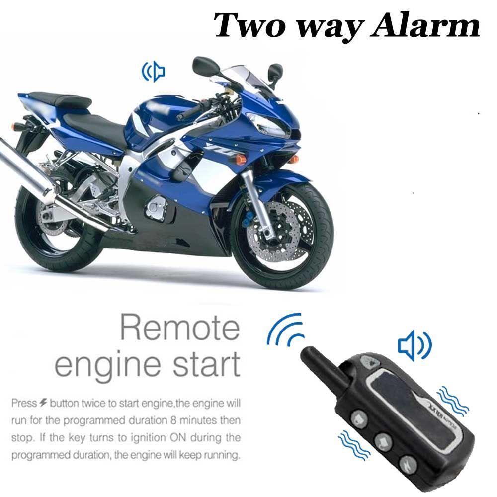 2 Way Мотоцикл охранной сигнализации Системы скутер мотоцикл двухстороннее сигнализации Moto Keyless Двигатели для автомобиля старт Anti-Theft Вибрац...
