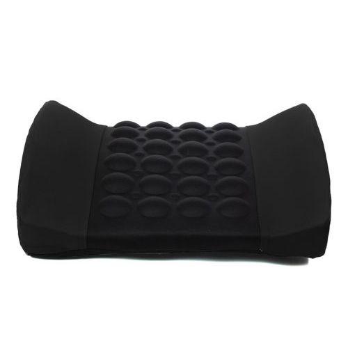 EDFY Black Car Back Lumbar Posture Support Electrical Massage Cushion Pillow 12V
