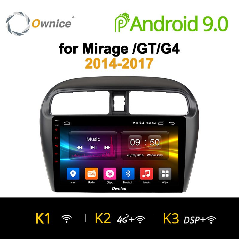 Ownice K1 K2 K3 9 zoll 8 Core 2G + 32G Android 9.0 Auto radio für Mitsubishi Mirage GT g4 2014 2017 GPS navigation 4G LTE carplay