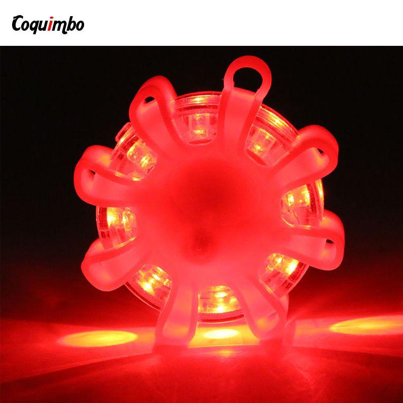 Coquimbo LED Flare Emergency Road Flare LED Safety Flare Roadside 9.1.1 Lights Flashing Road Beacon With Magnetic Base For Car