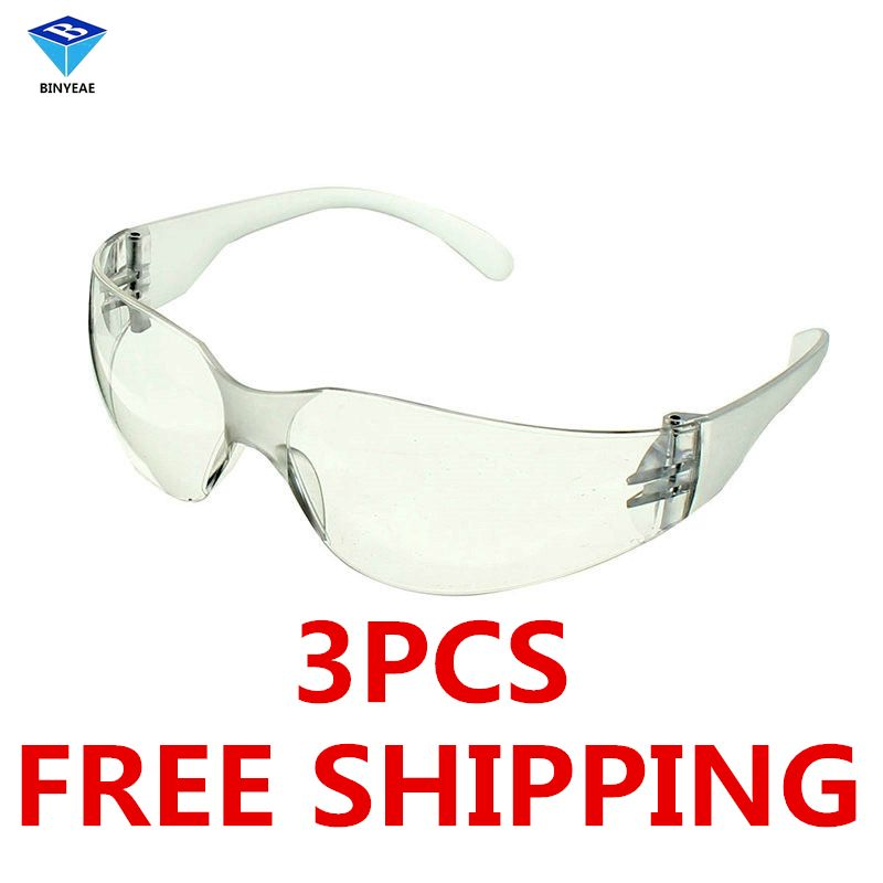 Бесплатная доставка, 3 шт. Детская безопасность Очки лаборатории Защита Глаз защитные очки прозрачные линзы на рабочем месте Защитные очки ...