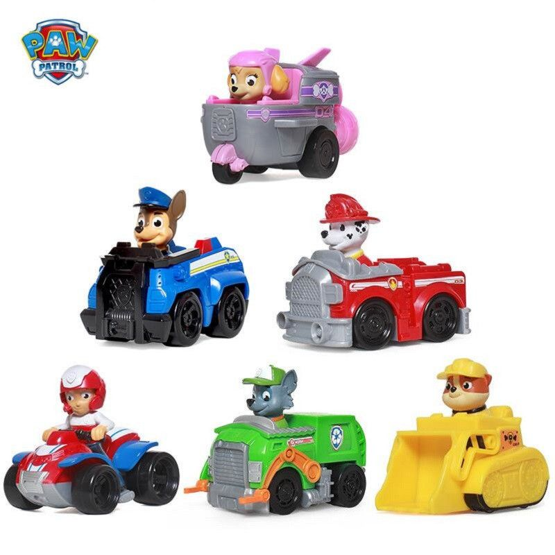 Paw Patrol Puppy Patrol Dog car patrulla canina Toys Anime Figurine Car Plastic Toy Action Figure model Children Gifts toys