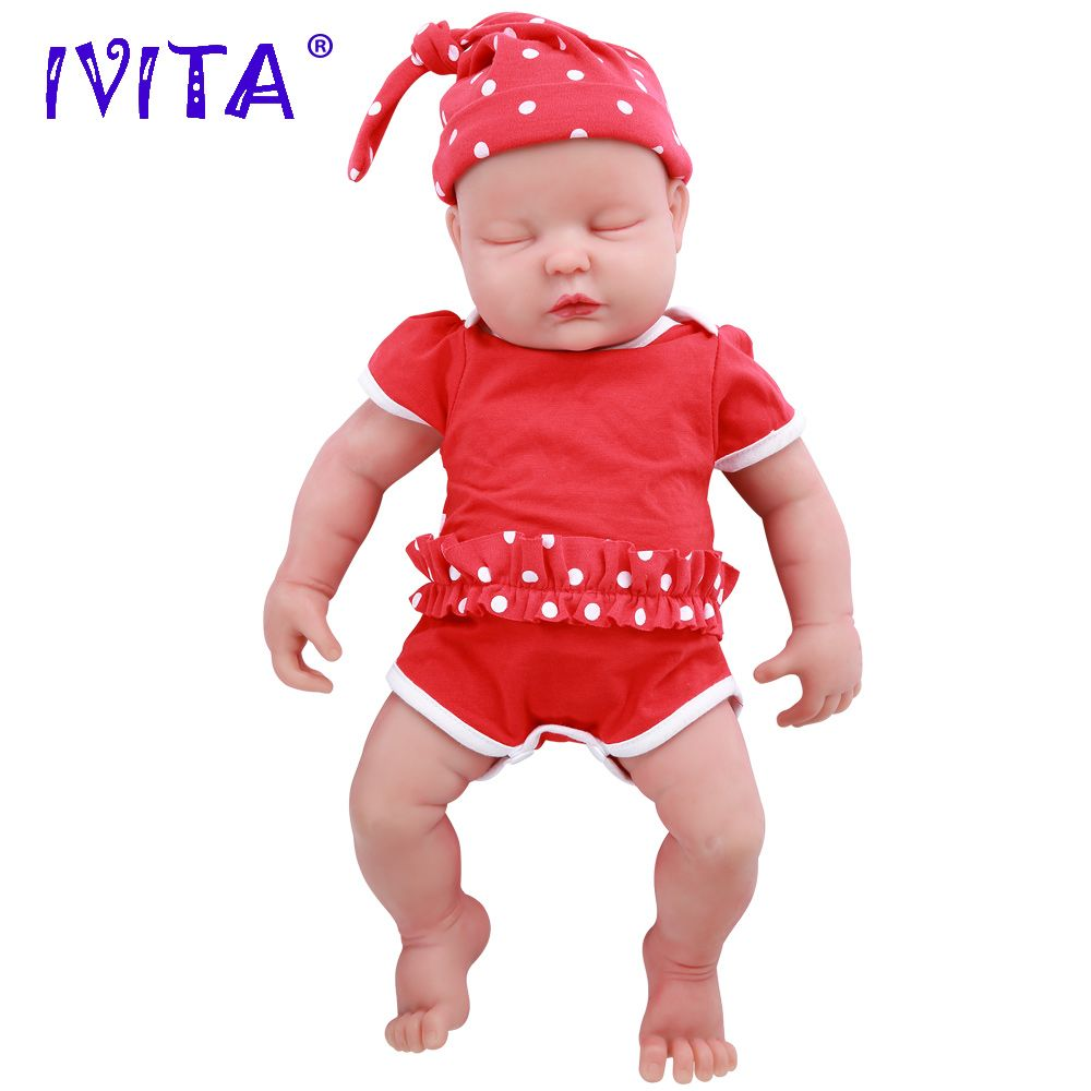 IVITA WG1510 47 cm 3,67 kg Mädchen Augen Geschlossen Hohe Qualität Volle Körper Silikon Reborn Puppen Geboren Lebendig Brinquedos Realistische baby Spielzeug