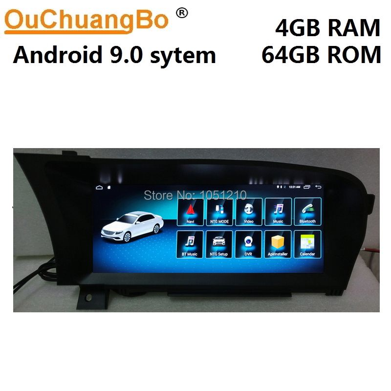 Ouchuangbo Android 9.0 media player gps navigation radio für Benz S 250 300 350 400 500 600 W221 2006-2013 mit 8 core 4GB + 64GB