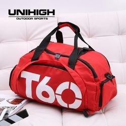 2019 mesh breathable gym bag Backpacks for men Female Shoes pack Fitness Large Printing Handbag Women Travel training sport bag