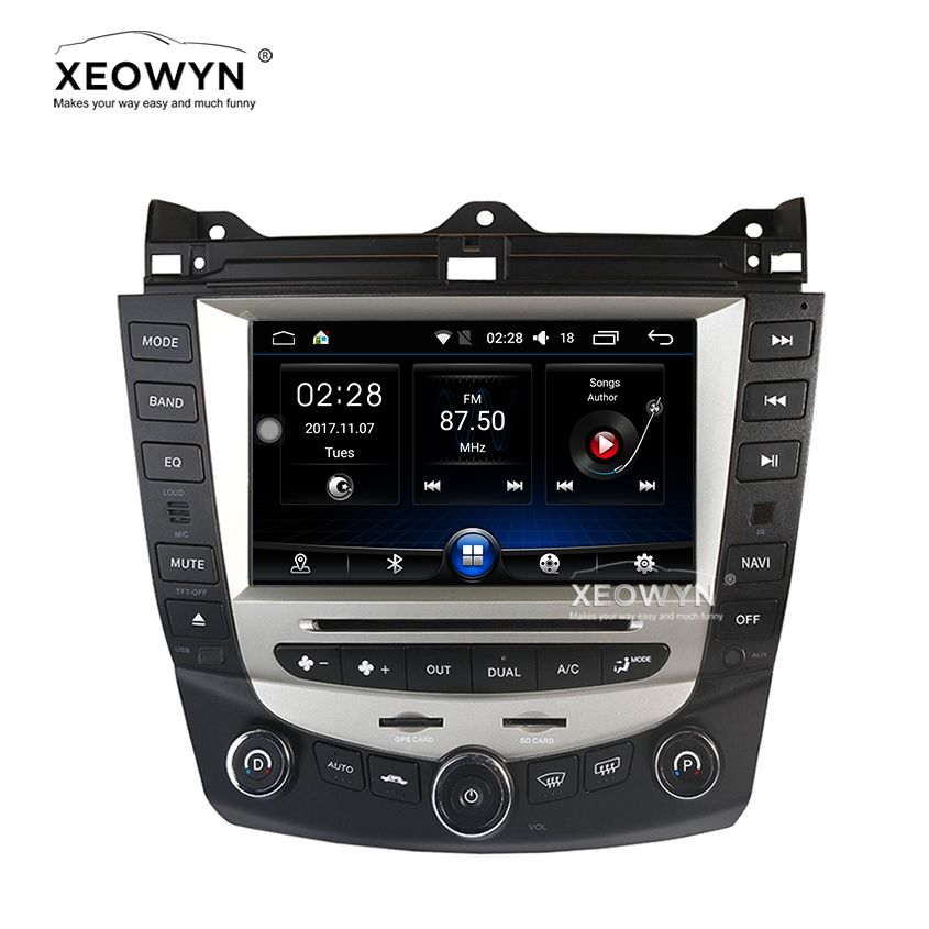 Android 6.0 Quad Core car dvd player gps navigation for honda accord 7 2003-2007 EURO car Radio dual / Single Zone Climate