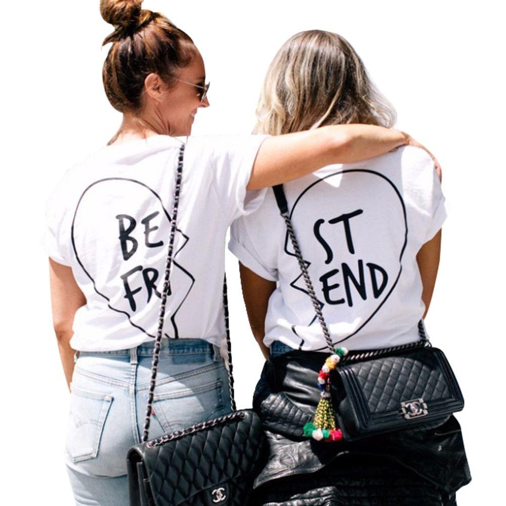 Meilleurs Amis T Shirt Femmes D'été Végétalien Tumblr Harajuku Kawaii Streetwear Féministe Riverdale Vintage Drôle Blanc Tops Plus La Taille