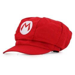 Anime Super Mario Hat Cap Luigi Bros Cosplay Baseball Costume