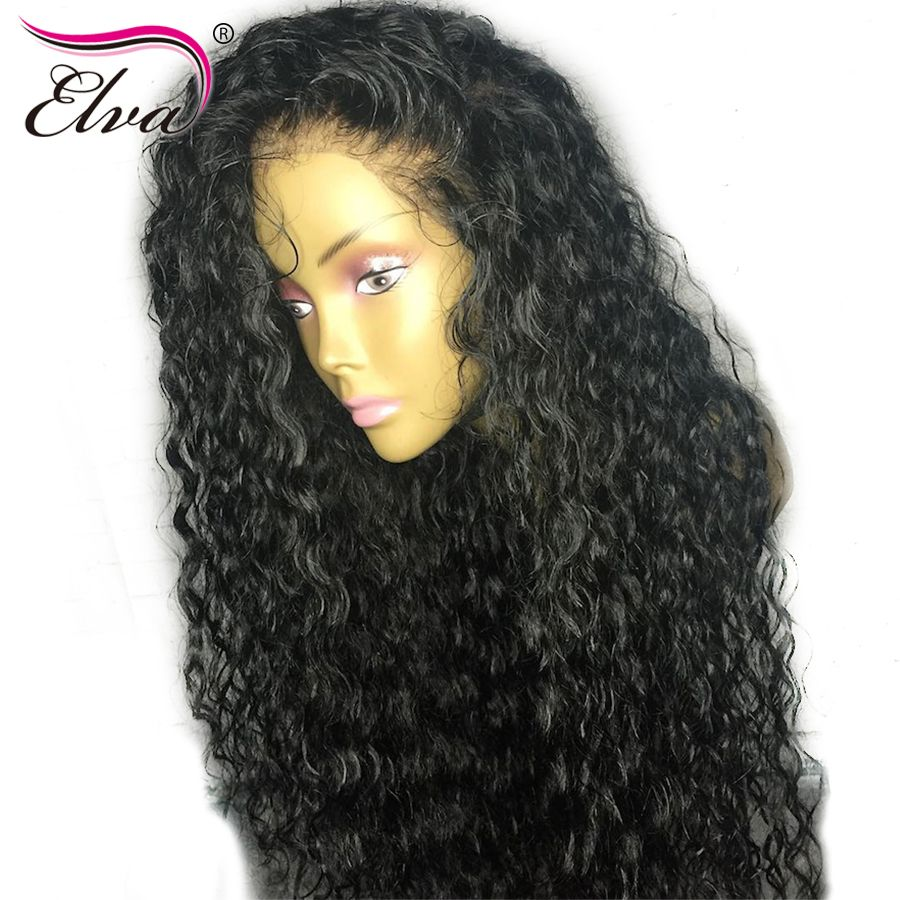 Pre Plucked Water Wave Full Lace Human Hair Wigs With Baby Hair Natural Hairline Elva Hair Brazilian Remy Hair Lace Wigs