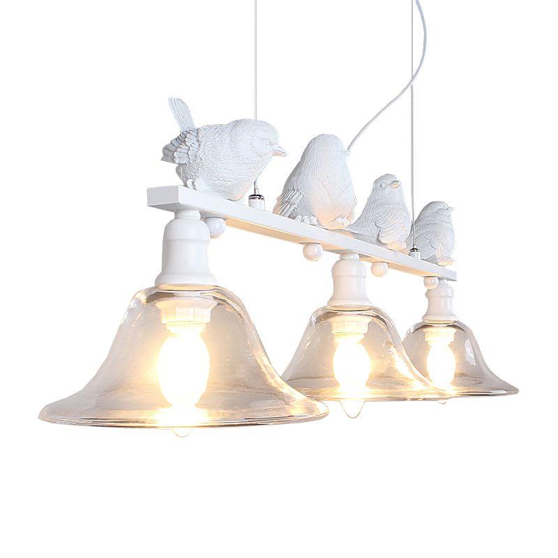 LBAH Zeitgenössische und vertraglich ländlichen restaurant lampe droplight drei kreative persönlichkeit bar led lampen vögel droplight