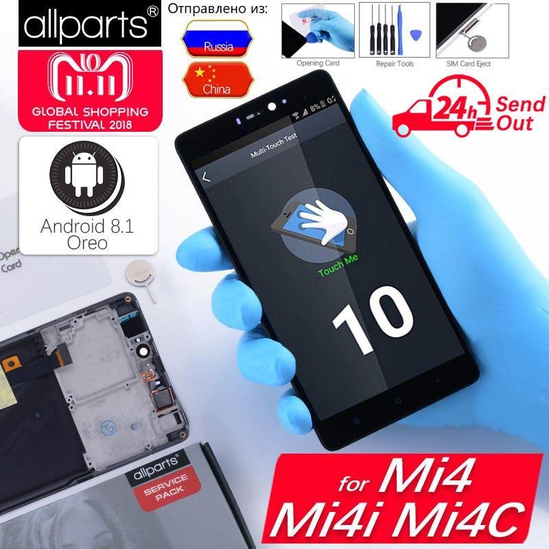 5.0 Affichage D'origine Pour XIAO mi mi 4 LCD Écran Tactile avec Cadre pour Xiao mi mi 4C LCD affichage mi 4 4C 4i mi 4i LCD de Remplacement