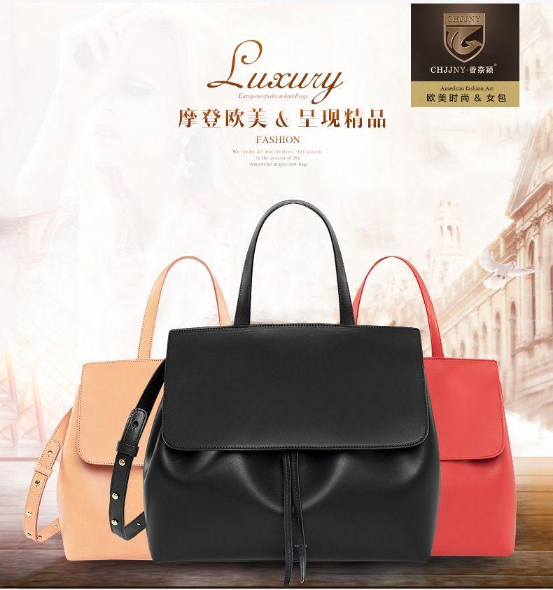 CHJJNY lady bag shoulder real leather pigskin crossbody luxury women messenger drawstring designer Mansur and Floriana Gavriel
