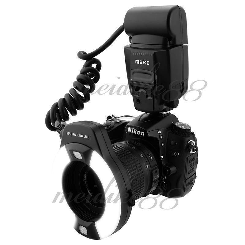 Meike MK-14EXT LED TTL Macro Ring Flash Lite AF I-TTL Assist Lamp For Nikon DSLR Camera Free Shipping
