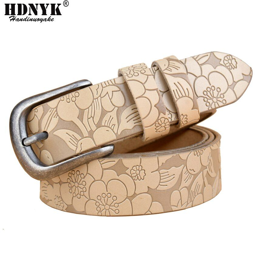 Hot nouveau Vintage ceinture femme en cuir véritable peau de vache sangle mode boucle ardillon ceintures pour femmes Top qualité jeans ceinture