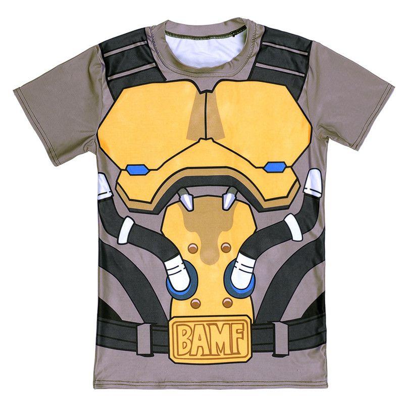 Новинка 2017 года игры Маккри принт 3D футболка новый Фитнес рубашка для Для мужчин Бодибилдинг Crossfit футболка Повседневное О-образным вырезом ...