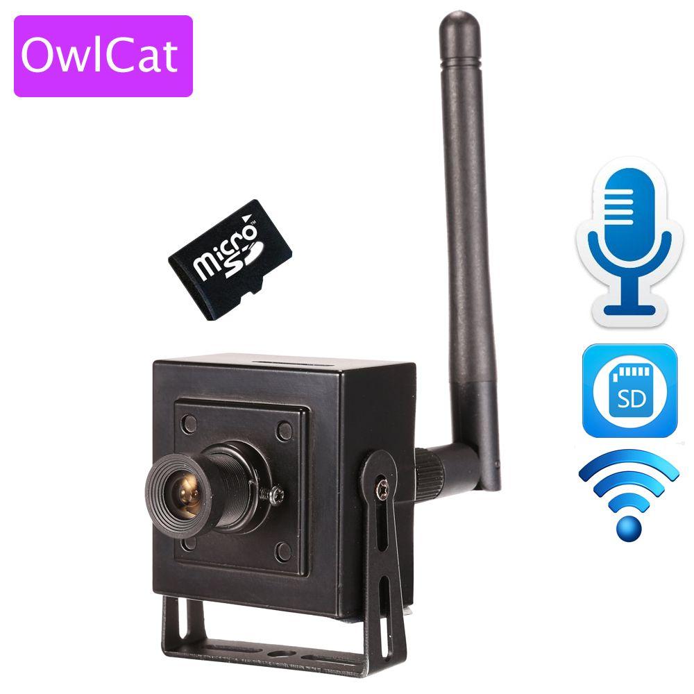 OwlCat Petit Mini Caméra IP Wifi HD 960 p 720 P Sans Fil CCTV réseau Cam Microphone Audio Carte SD P2P Soutien iPhone Android vue