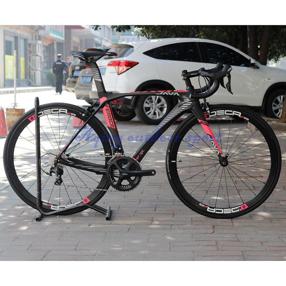 JAVA Feroce Carbon 700C Road Bike with 105 5800 Full Group Aluminium Wheels 22 speed Capiler Brake Racing Bicycle