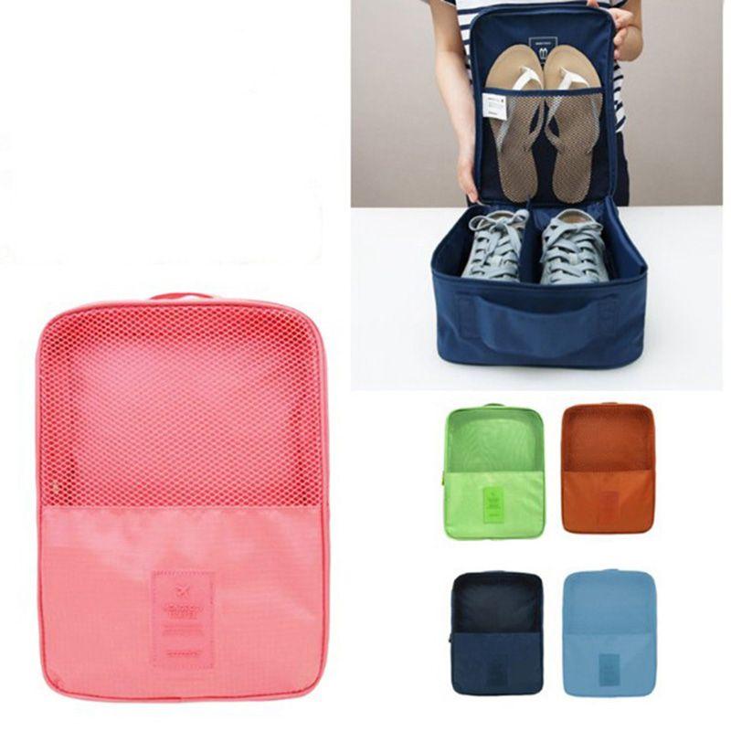 Sacs de rangement de chaussures en Nylon portables pour 3 paires de chaussures fourre-tout sac de rangement de voyage organisateur de chaussures résistant à l'usure imperméable