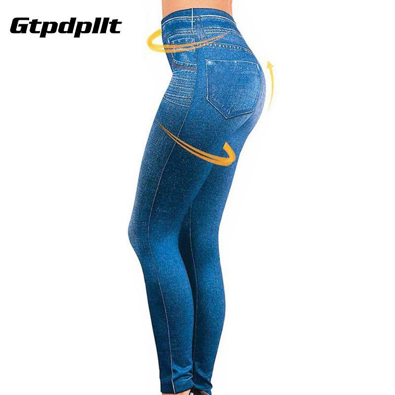 Gtpdpllt S-XXL femmes polaire doublé hiver Jegging Jeans Genie Slim mode Jegging Leggings 2 vraies poches femme pantalon de Fitness