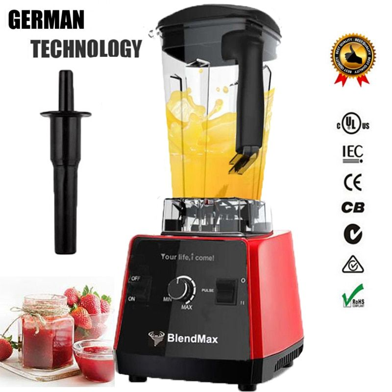 EU plug BPA Free 3HP 2200W Commercial Blender Mixer Juicer Power Food Processor Smoothie Bar Fruit Electric Blender