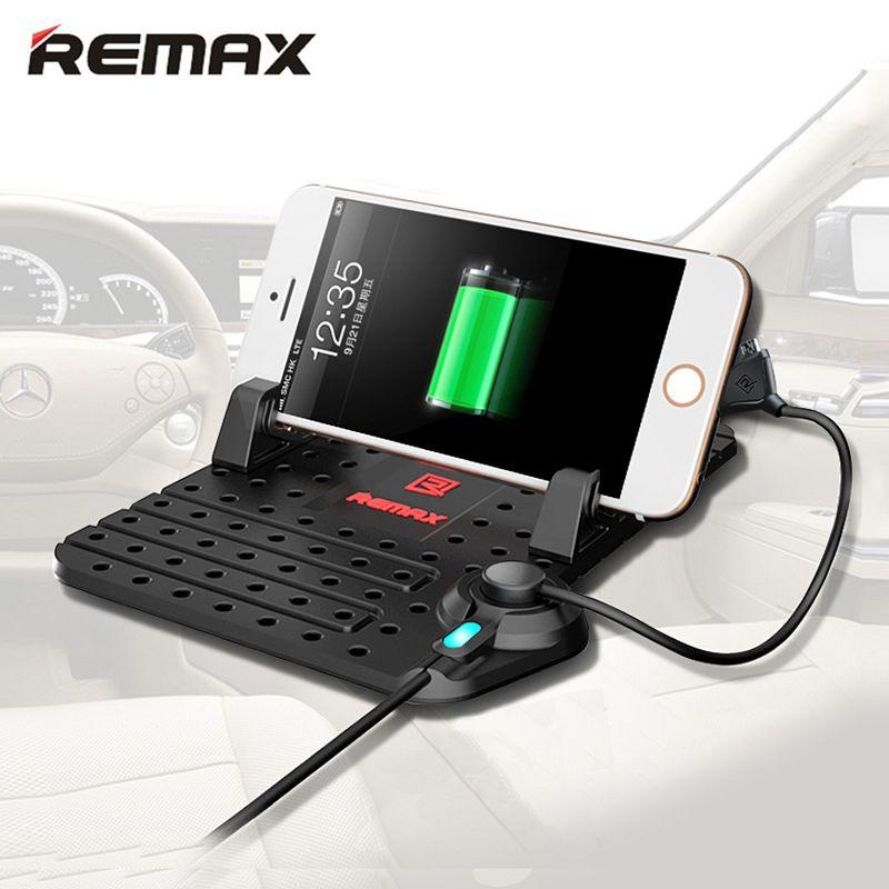 Remax support pour voiture pour téléphone portable avec chargeur magnétique câble USB pour iPhone 5 5 S 6 S 7 7 plus Android xiaomi support réglable pour téléphone