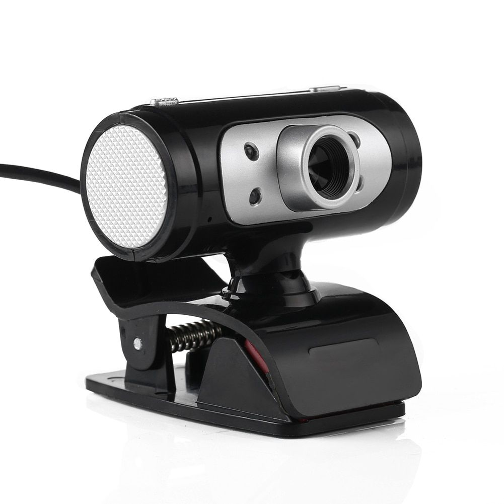 High Definition HD Webcam 1280*720 720p Pixel 4 LED Web <font><b>Cam</b></font> Camera With Night Lights for Computer