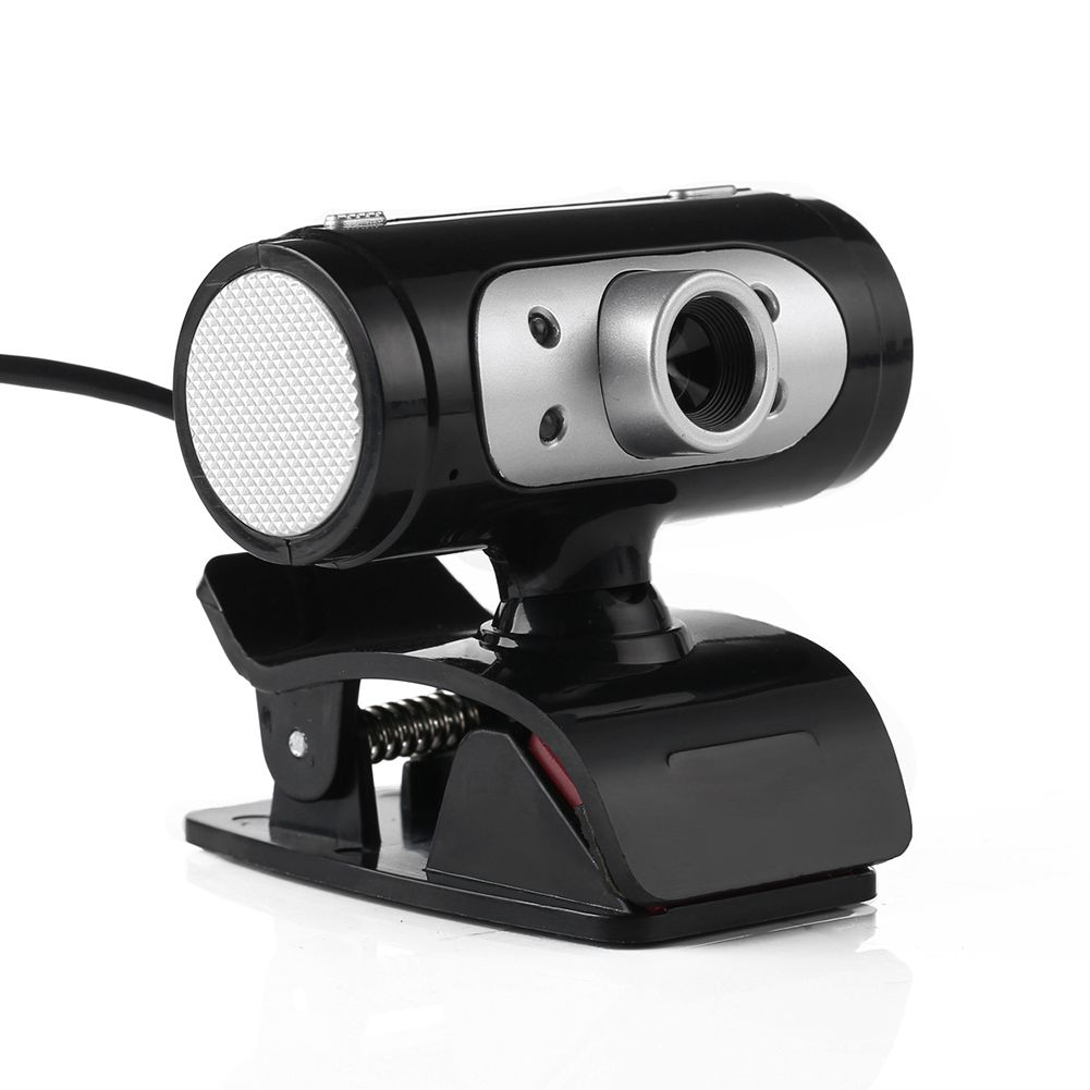 High <font><b>Definition</b></font> HD Webcam 1280*720 720p Pixel 4 LED Web Cam Camera With Night Lights for Computer