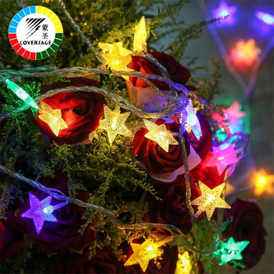 Coversage 100 Leds 10 Mt Weihnachten Outdoor Fee Lichterketten Garten Luces Führte Navidad Innen Vorhang String Dekorative Leuchten