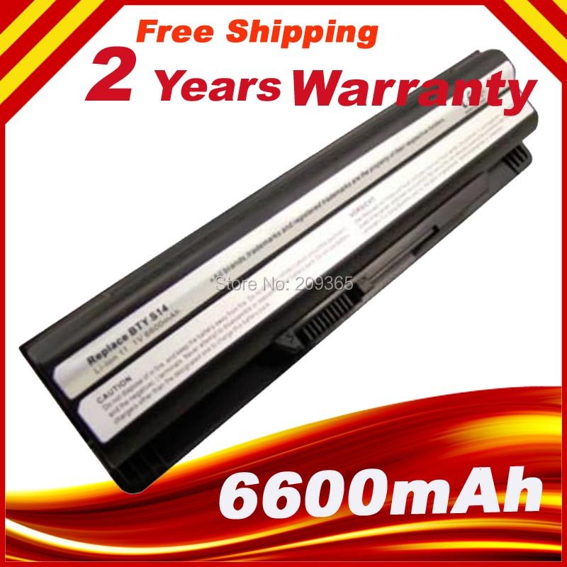 6600mAh 9 Cells Laptop Battery for MSI GE620DX BTY-S14 FX720 GE60 GE620 GE620DX GE70 A6500 CR41 CR61 CR70 FR720 CX70 FX700