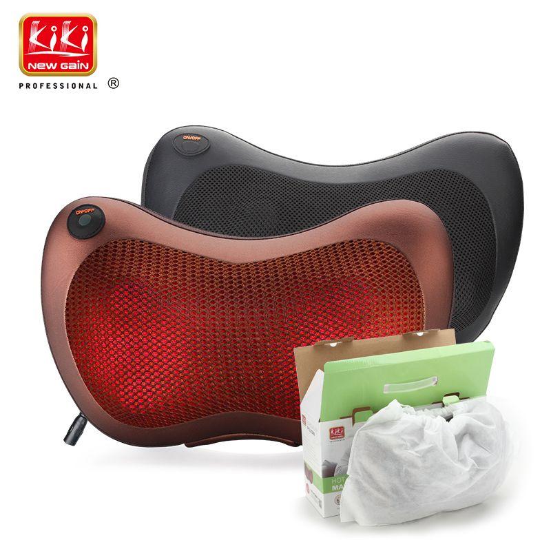 KIK NEWGAIN Home car dual-use multifunction dish massager car massage <font><b>pillow</b></font> cervical lumbar leg massager body massager shoulder