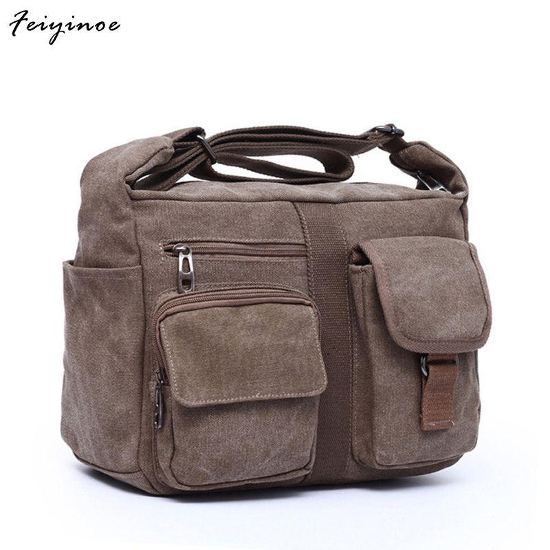2017 new canvas bag handbag men oblique satchel bags men messenger bag shoulder bag